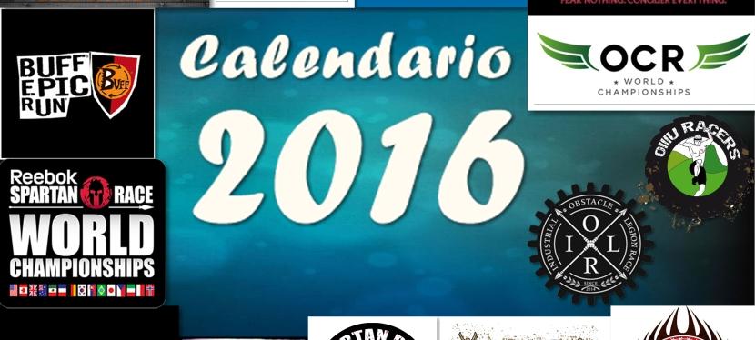 CALENDARIO CARRERAS 2016