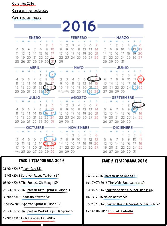 Calendari curses OCR 2016