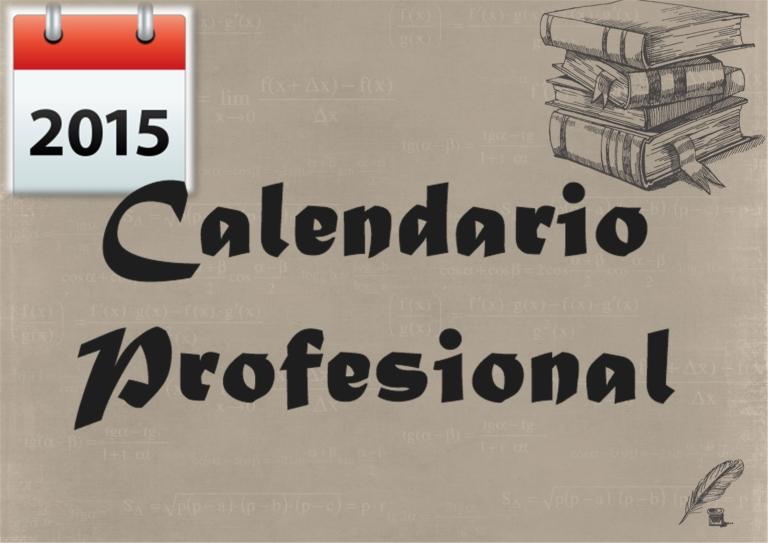 calendario profesional 20151
