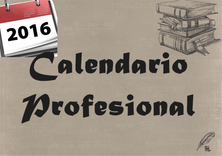 calendario profesional 20161
